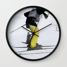 Natural High   - Ski Jump Landing Wall Clock