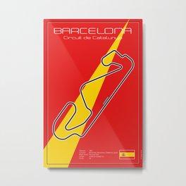 Barcelona Racetrack Metal Print