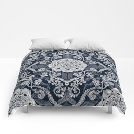 Centered Lace - Dark Comforters