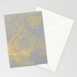 Trees Map VI Stationery Cards