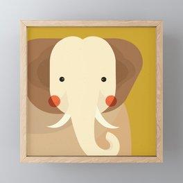 Elephant, Animal Portrait Framed Mini Art Print
