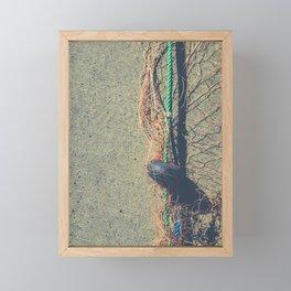 Fishnet with buoy on rope Framed Mini Art Print