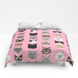 Cute Cat breed faces smiling kitten must have gifts for cat lady cat man cat lover unique pets Comforters