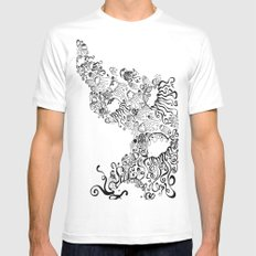 Jellyfish Migration Mens Fitted Tee MEDIUM White