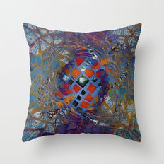 Mosaic Abstract Throw Pillow