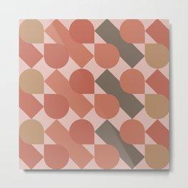 Diagonal Drops in Rose Metal Print