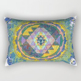 Dynama Sri Yantra Rectangular Pillow