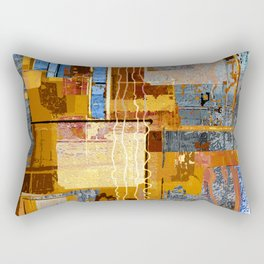 Meandering the Cellar of Peace Contemporary Abstract Rectangular Pillow