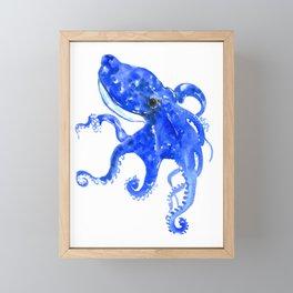 Blue Octopus Framed Mini Art Print