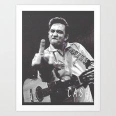 Johnny Cash III Art Print