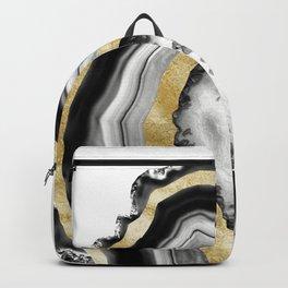 Agate Gold Foil Glam #1 #gem #decor #art #society6 Backpack