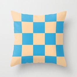 classic retro checked pattern Machyles Throw Pillow