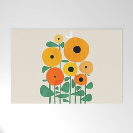 Sunflower and Bee Welcome Mat