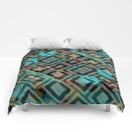 Black and White Squares Pattern 05 Comforters