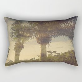 Palm Trees in the Wind Rectangular Pillow