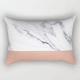 Marble Rose Gold Luxury iPhone Case and Throw Pillow Design Rectangular Pillow