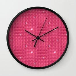 Hugs, Kisses, Love, and Pi - Pink  Wall Clock