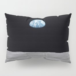 Earth rise over the Moon Pillow Sham