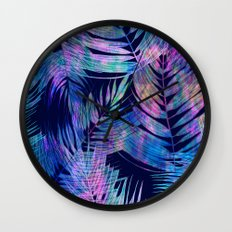Waikiki Tropic {Blue} Wall Clock