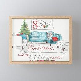 EIGHTH DAY OF CHRISTMAS WEIMS Framed Mini Art Print