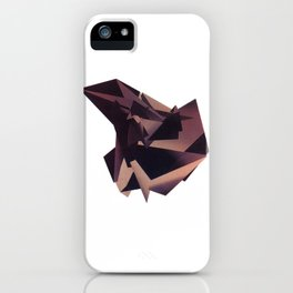 3D purple flying object iPhone Case