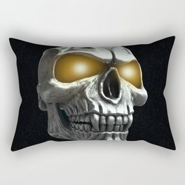Skull with glowing yellow eyes Rectangular Pillow