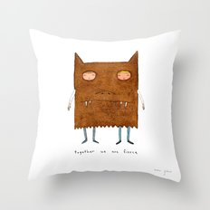 together we are fierce Throw Pillow