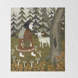 Galiena's goat Throw Blanket