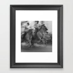 Fête votive d'Uzès Framed Art Print