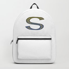 Celtic Knotwork Alphabet - Letter S Backpack
