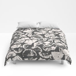 abstract pattern, Firewood texture, tree cut, gray and beige grunge wood background Comforters