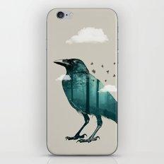 Teal Raven iPhone & iPod Skin