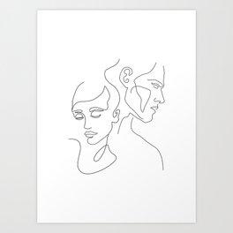 Couple Minimal Line Art Print