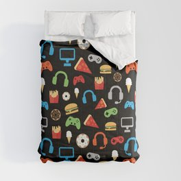 Video Game Party Snack Pattern Comforters