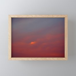 Red cloud shining at sunset Framed Mini Art Print