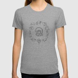 Yoga cats 2 T-shirt