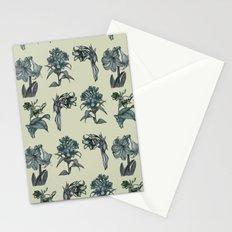 Botanical Florals | Vintage Blue Stationery Cards