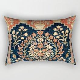 Kashan Poshti  Antique Central Persian Rug Print Rectangular Pillow