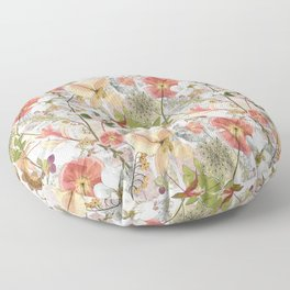 Pink Maximalist Collage Floor Pillow