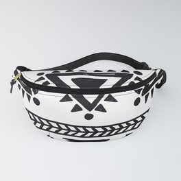 Tribal black and white Fanny Pack