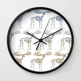 Moose skeleton - pattern Wall Clock