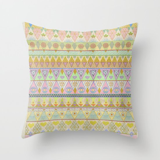 TROPIC THUNDER / PATTERN SERIES 004 Throw Pillow