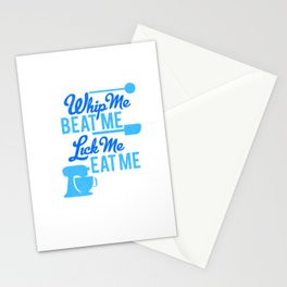 whip me Stationery Cards