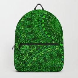 Green Bohemian Mandala Garden Backpack