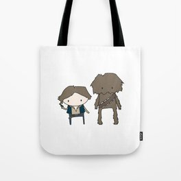 Han Solo & Chewie Tote Bag