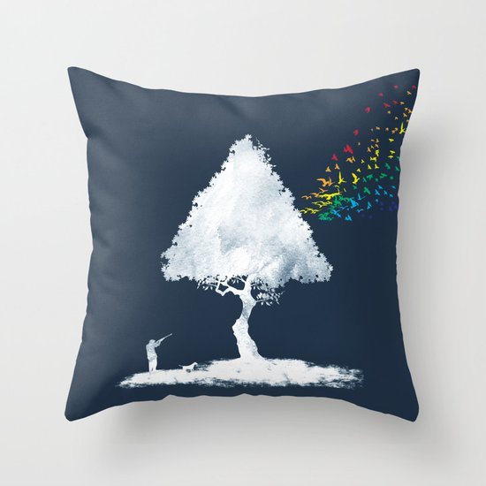 colourful hunting Throw Pillow