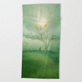 Greenery Sunrise Beach Towel