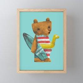 Summer Bear Framed Mini Art Print