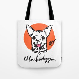 Chloe Kardoggian Illustration with Signature Tote Bag
