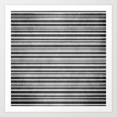 Chalkboard Stripes Art Print